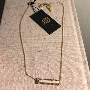 House of Harlow 1969 Bar Necklace White